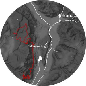map view of Caldaro