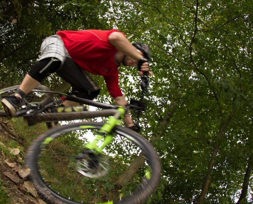 mountain biking Fichtel Mountains action