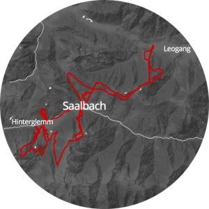 map view of Saalbach
